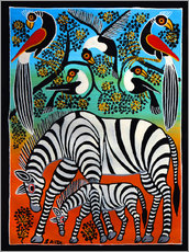 Gallery print  Zebras under a wild tree - Saidi