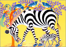 Wall sticker  Zebras walk - Rafiki