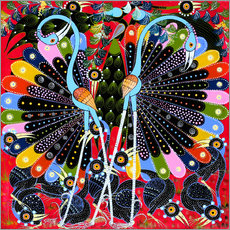 Gallery print  Peacock in courtship - Stephan