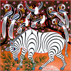 Wall sticker  Zebra at seizure - Mzuguno