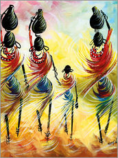 Gallery print  African Women Fetching Water - Nangida