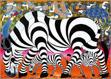 Gallery print  Zebras on foraging - Mustapha