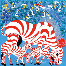 Gallery print  Zebras in red - Mustapha