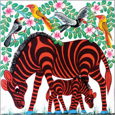 Gallery print  Red Zebras - Mrope