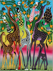 Gallery print  Giraffes in African colors - Maulana