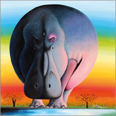 Wall sticker  Hippo at dusk - Mkura