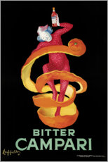 Wood print  Bitter Campari - Leonetto Cappiello