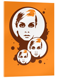 Acrylic print  Twiggy Mathmos Orange - JASMIN!