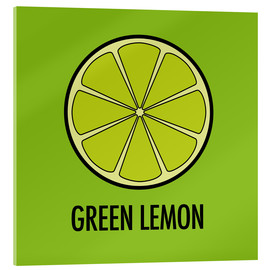 Acrylic print  Green Lemon Juice - JASMIN!