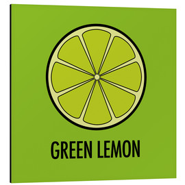 Aluminium print  Green Lemon Juice - JASMIN!