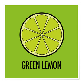 Premium poster  Green Lemon Juice - JASMIN!