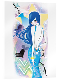 Acrylic print  aquarius - Saeko Illustration
