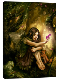 Canvas print  Elf with butterfly - Karsten Schreurs