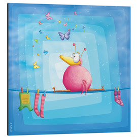 Aluminium print  blue bird - Tooshtoosh