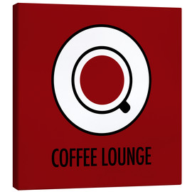 Canvas print  Coffee lounge, red - JASMIN!