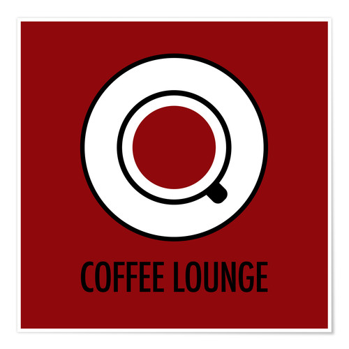 Premium poster Coffee Lounge, brown