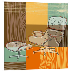 Aluminium print  lounge chair - Thomas Marutschke