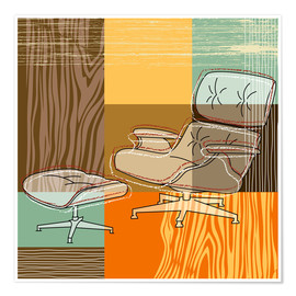 Premium poster Lounge Chair V
