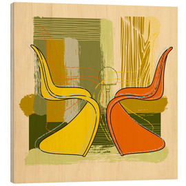 Wood print  panton chair 01 - Thomas Marutschke