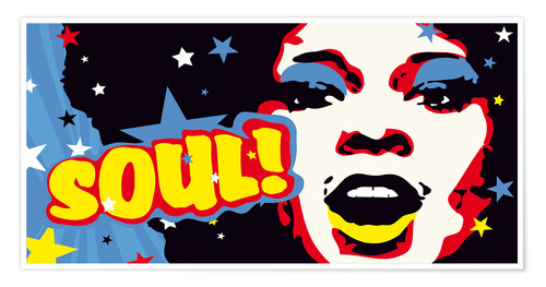 Premium poster Soul! for the funky world