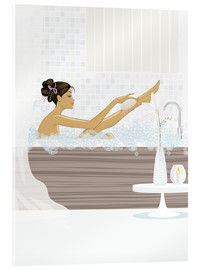 Acrylic print  shower flower babe - Mike Wall