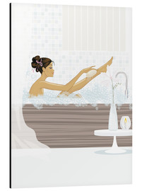 Aluminium print  shower flower babe - Mike Wall
