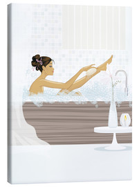 Canvas print  shower flower babe - Mike Wall
