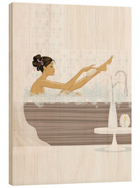 Wood print  shower flower babe - Mike Wall