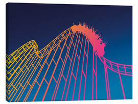 Canvas print  rollercoaster - David Fairfield