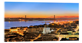 Acrylic glass  Panorama  of Lisbon Portugal - Fine Art Images