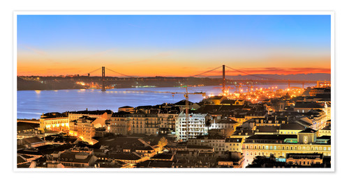 Premium poster Panorama of Lisbon Portugal