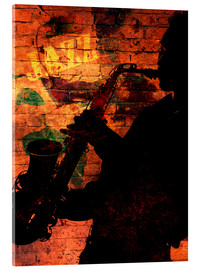Acrylic print  Saxophonist - colosseum