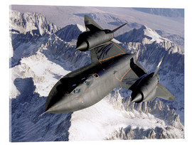Acrylic glass  SR-71B Blackbird in Flight - Stocktrek Images