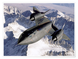 Premium poster  SR-71B Blackbird in Flight - Stocktrek Images
