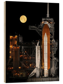 Wood print  Space shuttle Discovery