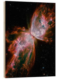 Wood print  The Butterfly Nebula