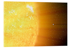 Acrylic print  The relative sizes of the Sun and the Earth