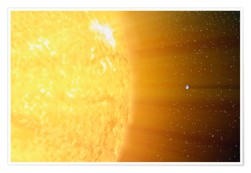 Premium poster The relative sizes of the Sun and the Earth