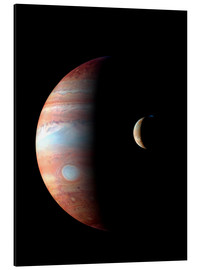 Aluminium print  Jupiter and its volcanic moon Lo