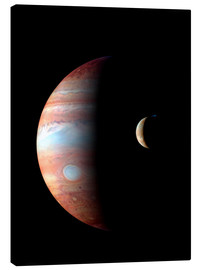 Canvas print  Jupiter and its volcanic moon Lo