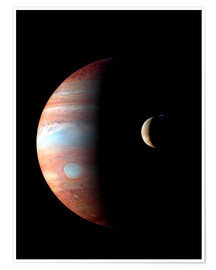 Premium poster Jupiter and its volcanic moon Lo