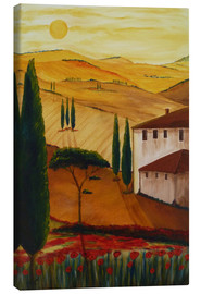 Canvas print  Tuscanyidyll 3 - Christine Huwer