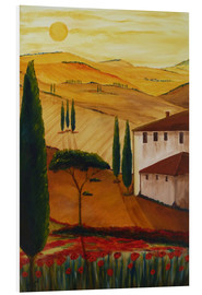 Foam board print  Tuscanyidyll 3 - Christine Huwer