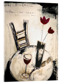Acrylic glass  A glass of wine - Christin Lamade