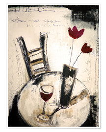 Premium poster  A glass of wine - Christin Lamade