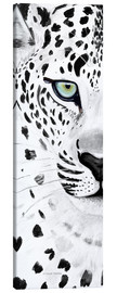 Canvas print  The leopard - panorama - Annett Tropschug