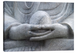 Canvas print  Buddha hands - Hannes Cmarits
