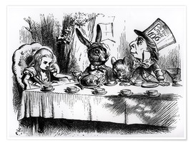 Premium poster  The Mad Hatter's Tea Party - John Tenniel