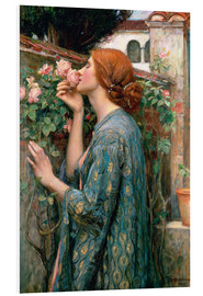 Foam board print  The Soul of the Rose - John William Waterhouse