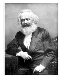 Premium poster  Portrait of Karl Marx - English Photographer
